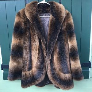 Vintage James McQuay Faux Fur Jacket